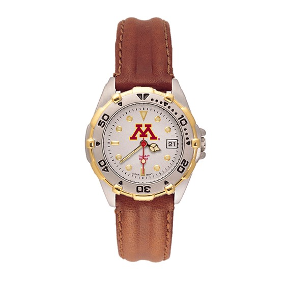 Minnesota Gophers Ladies' All Star Leather Watch
