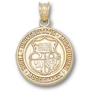 10kt Yellow Gold 5/8in University of Missouri Seal Pendant