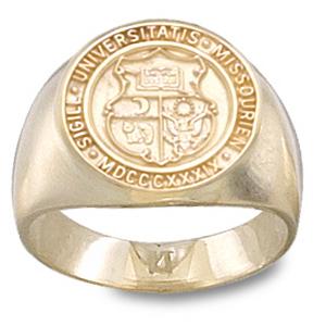 Missouri Tigers Men's Seal Ring - 10k Gold