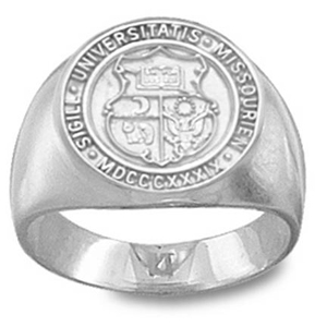 Sterling Silver Missouri Tigers Men's Seal Ring