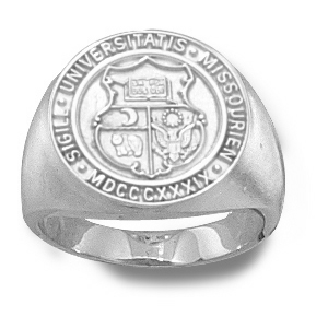 Sterling Silver Ladies' University of Missouri Seal Ring