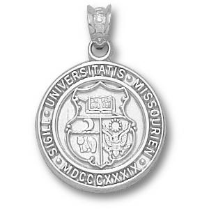 Sterling Silver 5/8in University of Missouri Seal Pendant