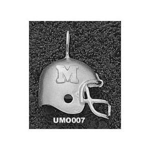 Missouri Tigers 3/4in Sterling Silver Helmet Pendant