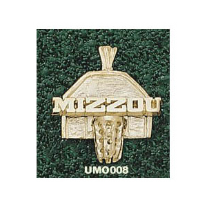 Missouri Tigers 5/8in 14k Backboard Pendant