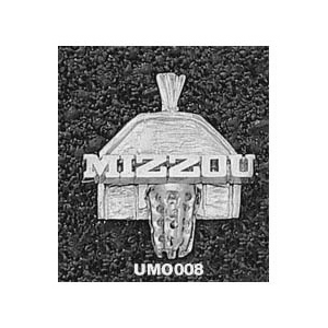Missouri Tigers 5/8in Sterling Silver Backboard Pendant