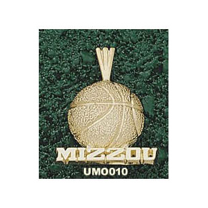 Missouri Tigers 5/8in 14k Basketball Pendant