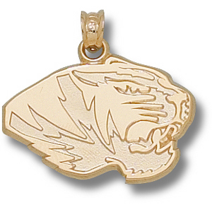 Missouri Tigers 9/16in 14k Head Pendant