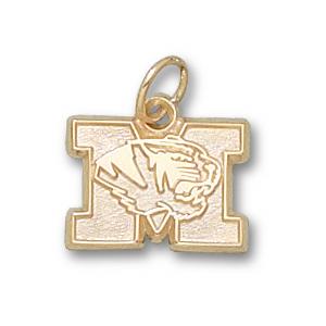 Missouri Tigers 3/8in 14k Head Pendant