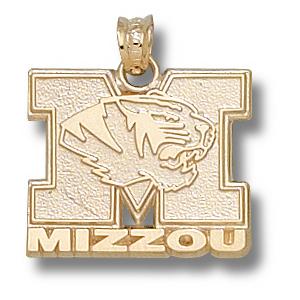 Missouri Tigers 5/8in 10k Head Pendant