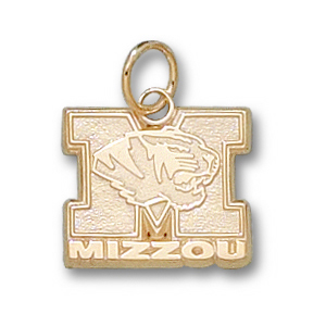 10kt Yellow Gold 1/2in Missouri Tigers Mizzou Charm