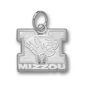 Sterling Silver 1/2in Missouri Tigers Mizzou Charm
