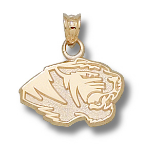 Missouri Tigers 7/16in 10k Head Pendant