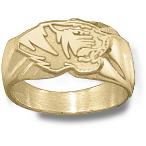 Missouri Tigers Men's Head Ring - 10k Gold