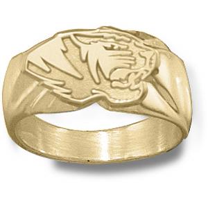 Missouri Tigers Men's Head Ring - 14k Gold