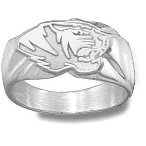 Missouri Tigers Men's Head Ring - Sterling Silver