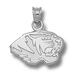 Missouri Tigers 7/16in Sterling Silver Head Pendant