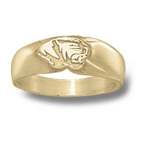 Missouri Tigers Ladies' Head Ring - 14k Gold