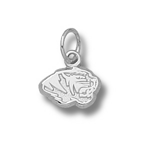Missouri Tigers 1/4in Sterling Silver Head Charm