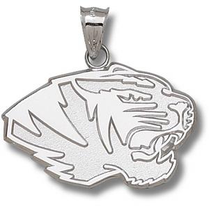 Missouri Tigers 13/16in Sterling Silver Head Pendant