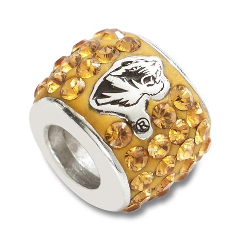 University of Missouri Premier Bead Charm Sterling Silver