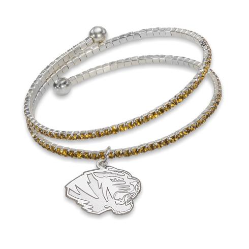 University of Missouri Florida Amped Logo Crystal Bracelet