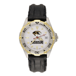 Missouri Tigers Mens All Star Leather Watch