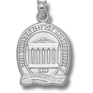 Sterling Silver 3/4in University of Mississippi Seal Pendant