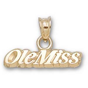 Mississippi Rebels Ole Miss 1/8in 14k Pendant