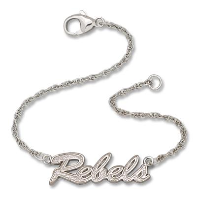 Sterling Silver University of Mississippi 7in Script Bracelet
