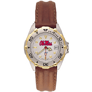 Ole Miss Ladies' All Star Leather Watch