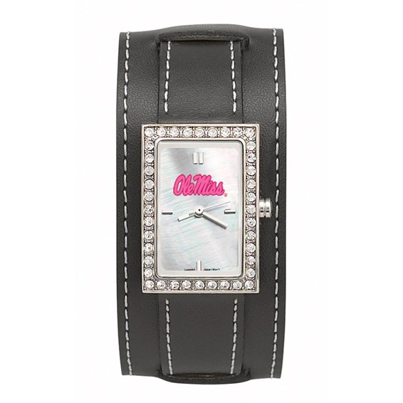 Ole Miss Wide Starlette Leather Watch