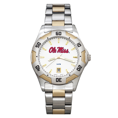 University of Mississippi All-Pro Men's Two-Tone Watch