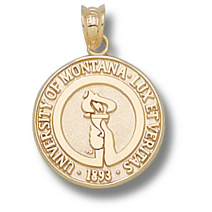 Montana Grizzlies 5/8in 14k Seal Pendant