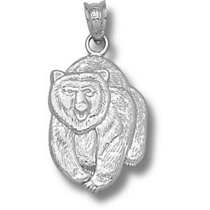 Montana Grizzlies 3/4in Sterling Silver Bear Pendant