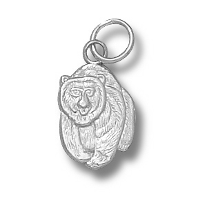 Montana Grizzlies 1/2in Sterling Silver Bear Pendant
