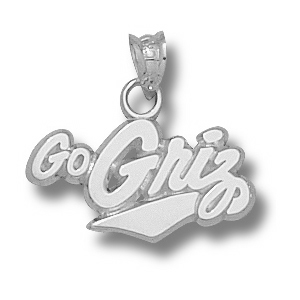 Sterling Silver 3/8in University of Montana Go Griz Charm