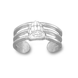 Montana Grizzlies Sterling Silver Toe Ring