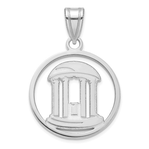 Sterling Silver 3/4in Univ of North Carolina Old Well Pendant