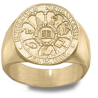 U of Nebraska Men's Seal Ring - 10k Gold
