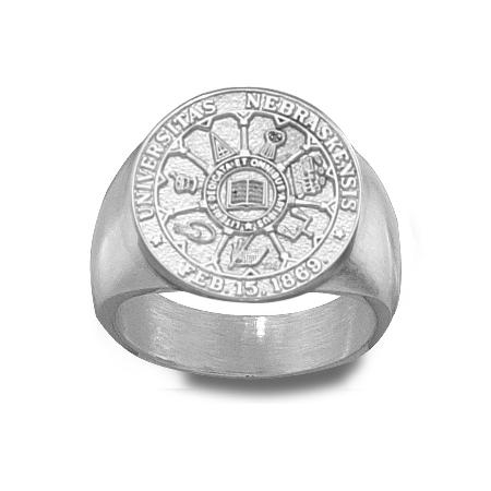 U of Nebraska Men's Seal Ring - Sterling Silver