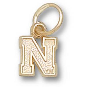 U of Nebraska 1/4in 10k N Pendant