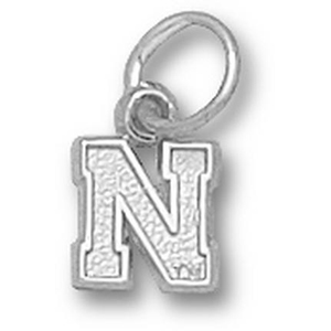 Sterling Silver 1/4in University of Nebraska N Charm