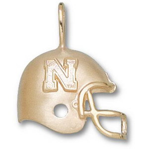 U of Nebraska 3/4in 10k N Helmet Pendant