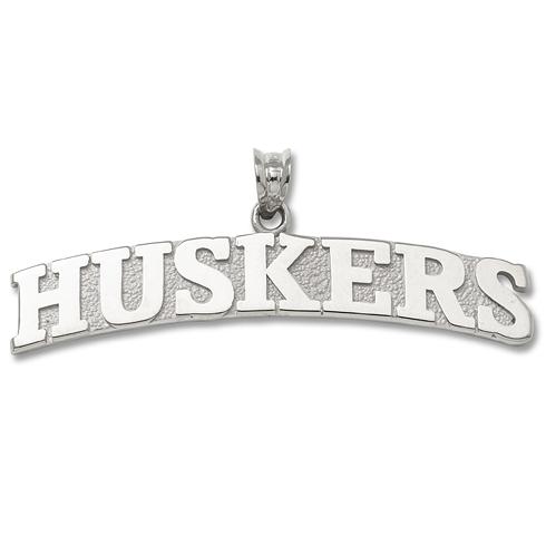 University of Nebraska Huskers 3/8in Pendant Sterling Silver