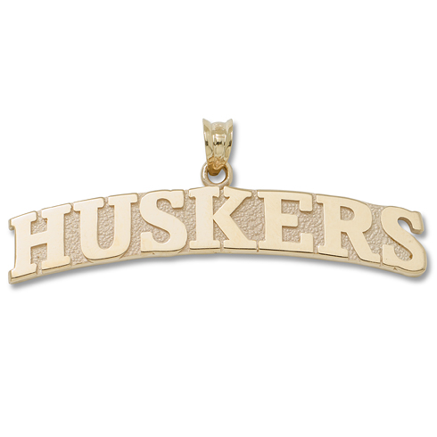 University of Nebraska Huskers 3/8in Pendant 10kt Yellow Gold