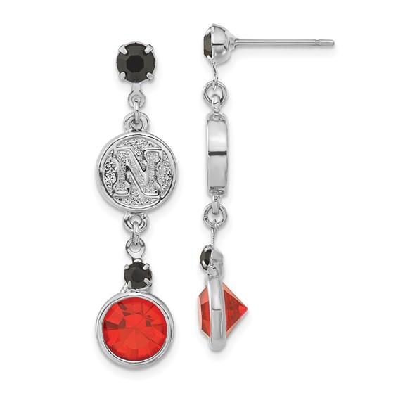 University of Nebraska Crystal Logo Earrings