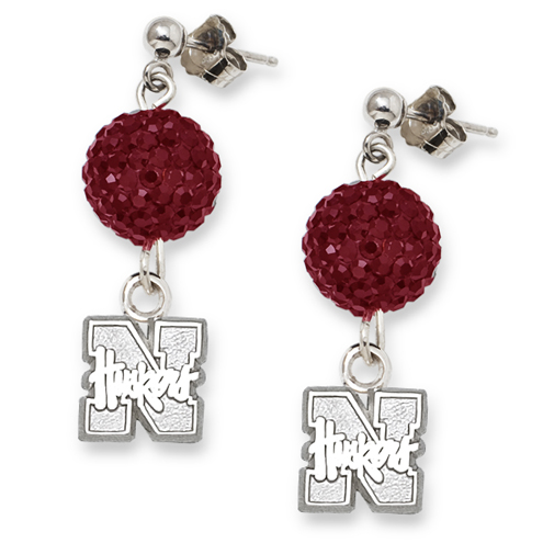 University of Nebraska Crystal Ovation Earrings