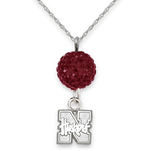 University of Nebraska Crystal Ovation Necklace