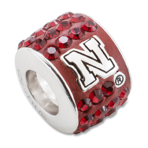 University of Nebraska Dame Premier Crystal Bead