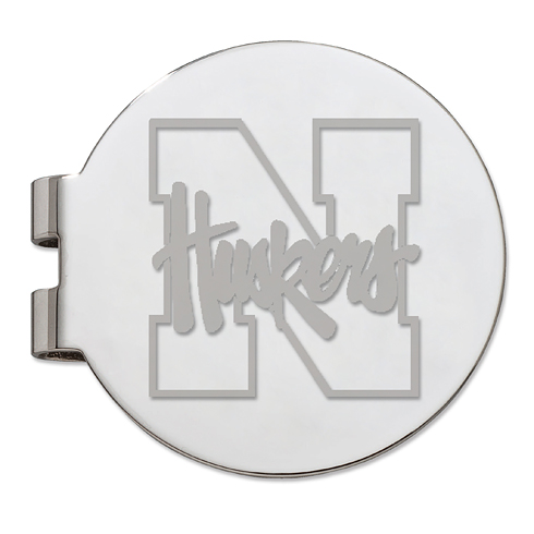 University of Nebraska Silver Plated Money Clip